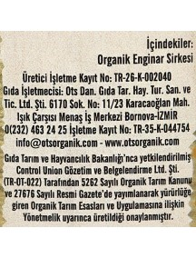 Organik Enginar Sirkesi 250 ml - OTS Organik